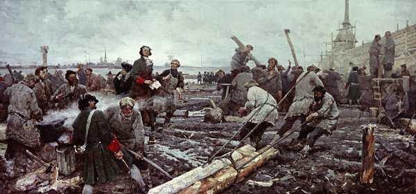 В 1703 году Петр I заложил город Санкт-Петербург