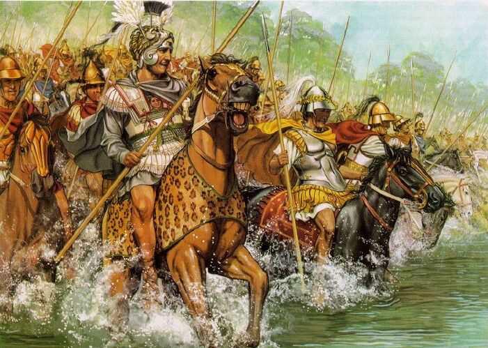 Александр Македонский переходит через Граник