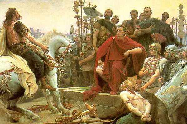 Картина «Верцингеторикс бросает оружие к ногам Цезаря»