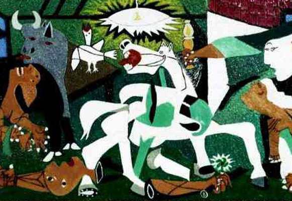 Фрагмент картины Пабло Пикассо Герника