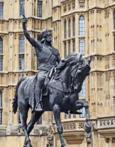 Памятник королю Ричарду I в Лондоне