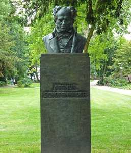Памятник Артура Шопенгауэра в Франкфурте-на-Майне