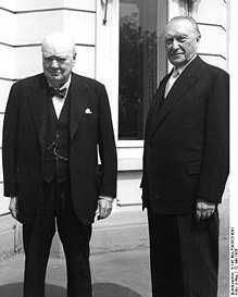 Уинстон Черчилль и Конрад Аденауэр
