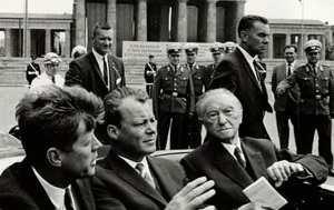 Джон Кеннеди и Конрад Аденауэр