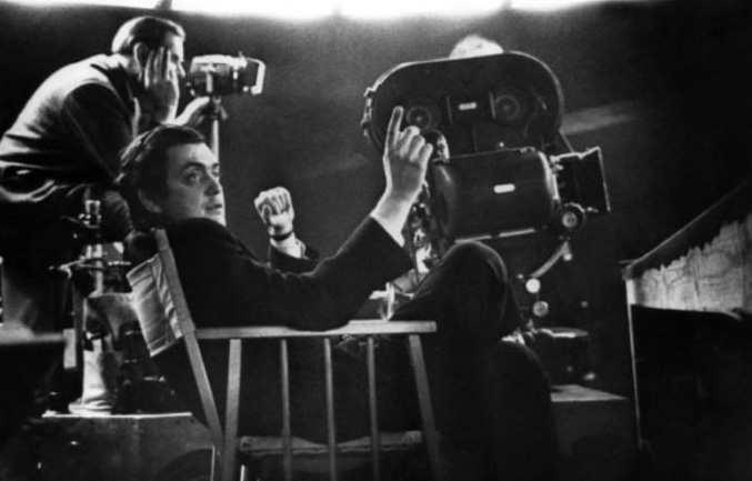 Стэнли Кубрик во время работы