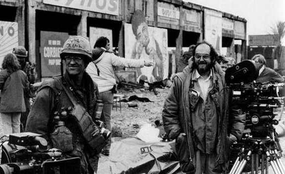 Стэнли Кубрик на съемках фильма Цельнометаллическая оболочка