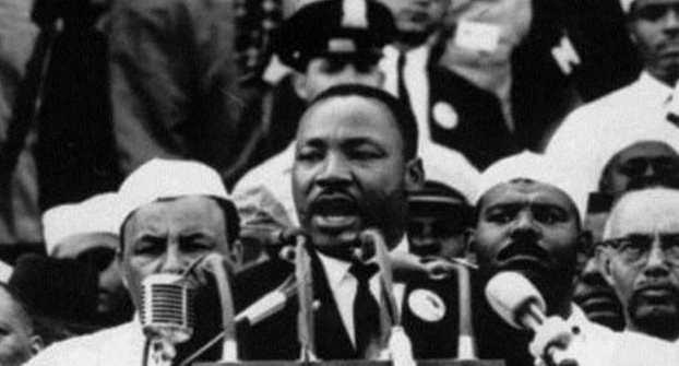 Мартин Лютер Кинг выступает с речью «У меня есть мечта»