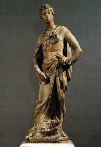 Мраморная статуя Давида-победителя