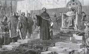Франческо Петрарка на коронации
