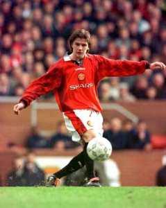 Молодой Дэвид Бекхэм в «Манчестер Юнайтед»