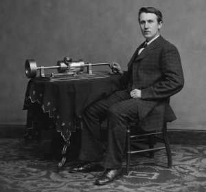 Томас Эдисон в молодости